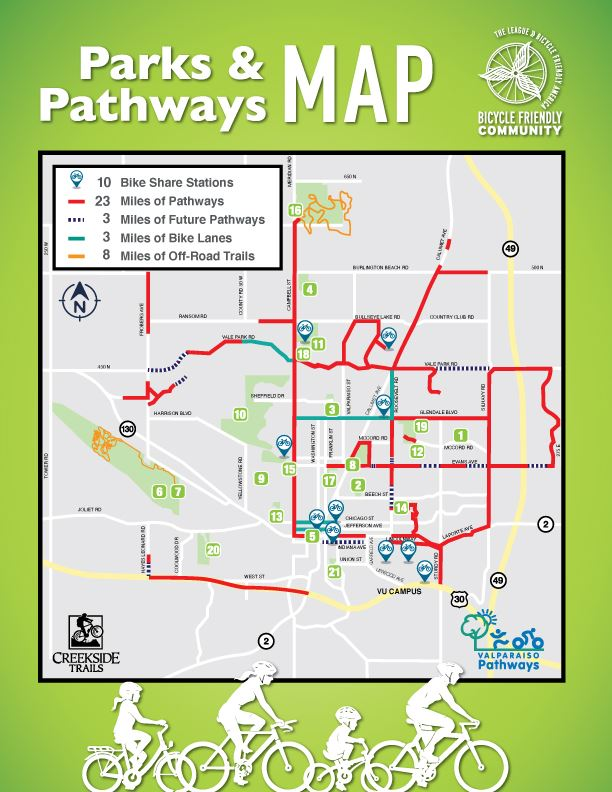 2019 Parks, Pathways & Trails Map
